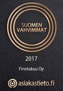 Suomen vahvimmat 2017 Finntakuu Oy asiakastieto.fi